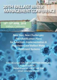 Meet Shipowners Presenting on 20th Ballast Water Management Conference 2018